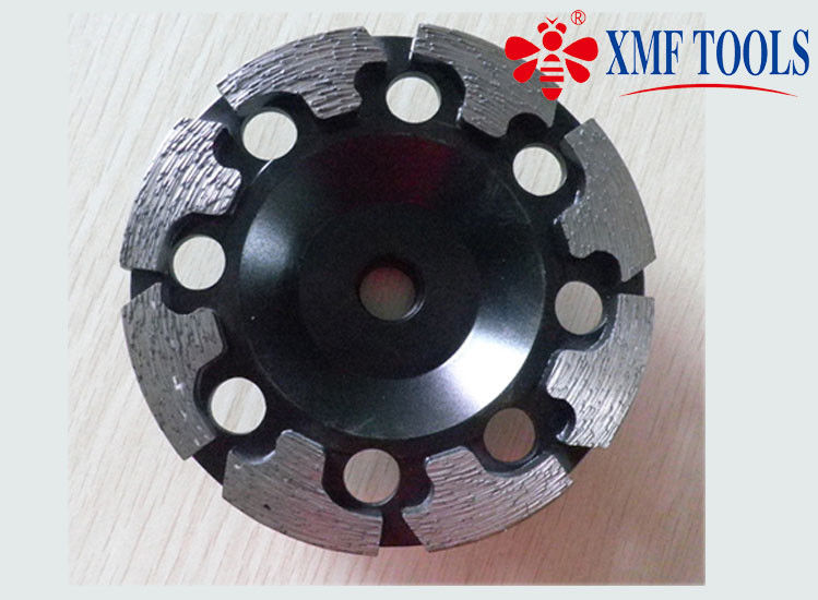 4 Inch / 6 Inch Double Row Diamond Cup Grinding Wheel Black T Shape 125mm 180mm